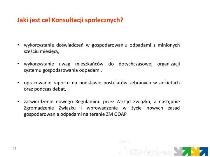Jaki jest cel Konsultacji społecznych?