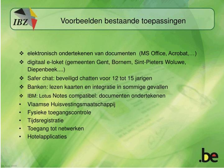 elektronisch ondertekenen van documenten  (MS Office, Acrobat,…)