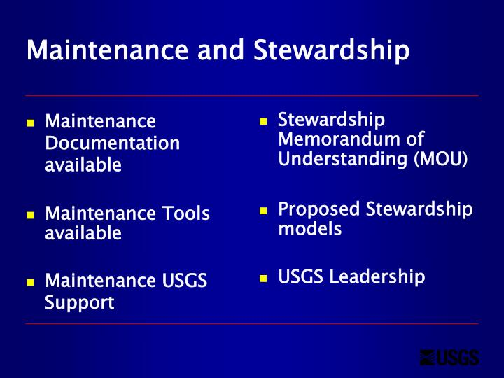 Maintenance Documentation available