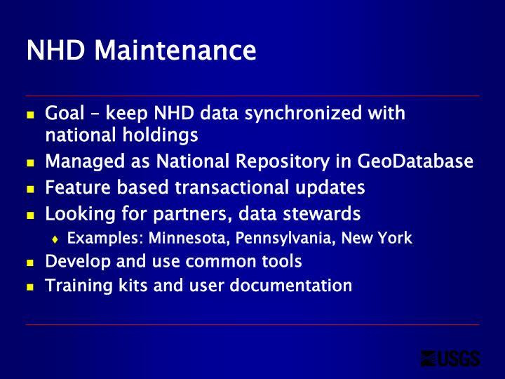NHD Maintenance