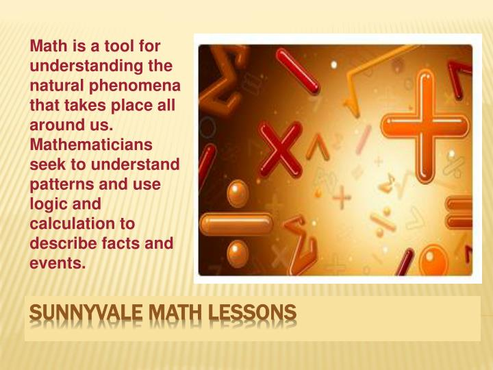 Sunnyvale math lessons