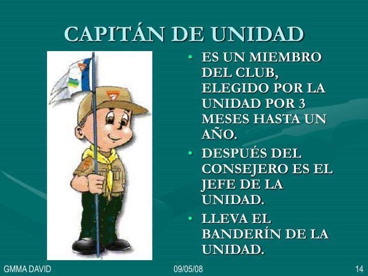 CAPITÁN DE UNIDAD