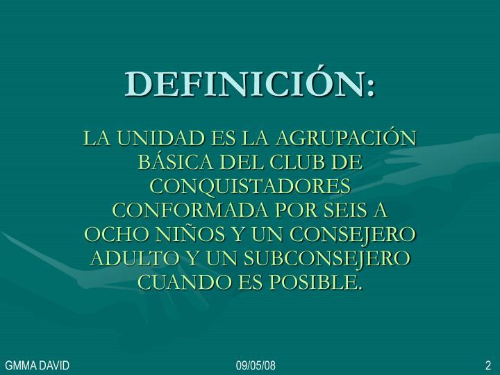 DEFINICIÓN: