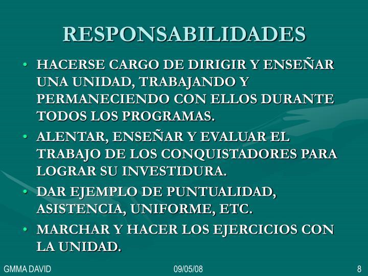 RESPONSABILIDADES