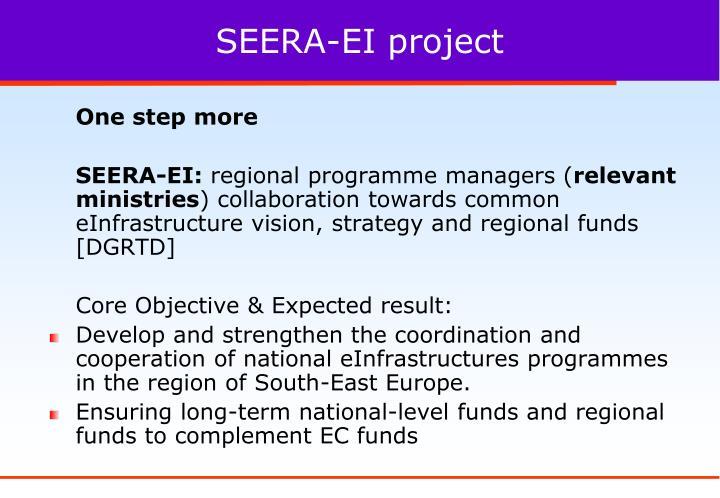 SEERA-EI project