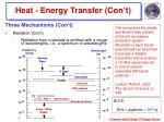 heat energy transfer con t5