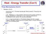 heat energy transfer con t9