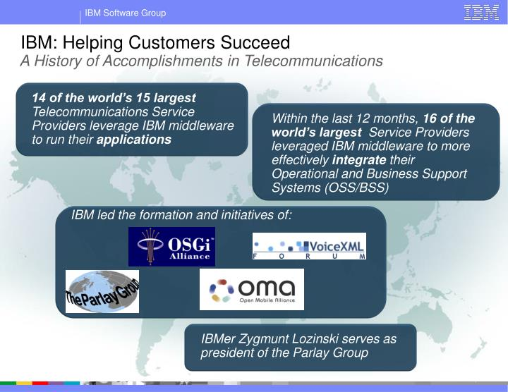IBM: Helping Customers Succeed