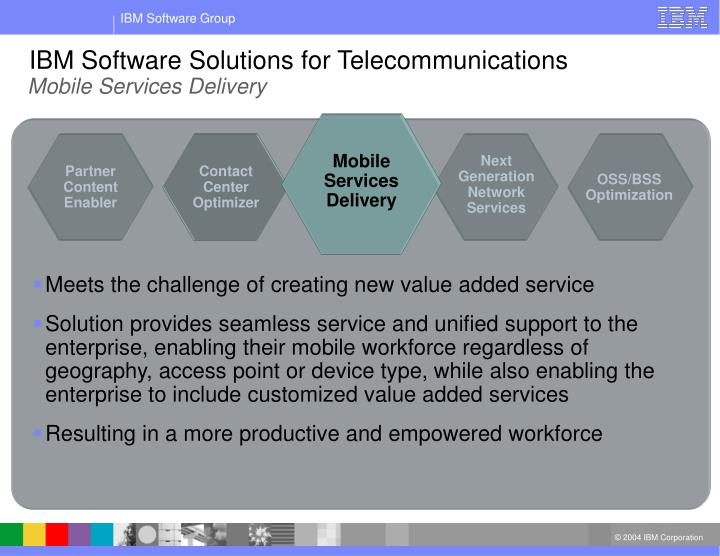 IBM Software Solutions for Telecommunications
