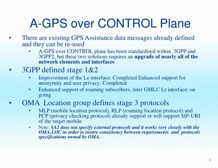 A gps over control plane