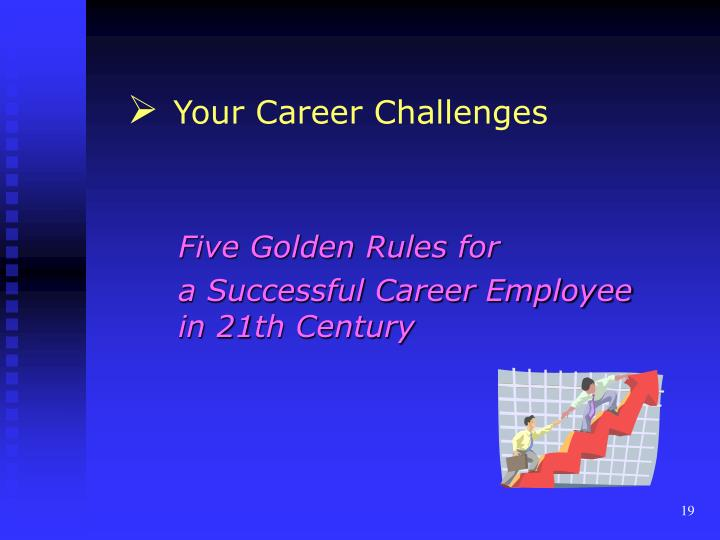 Your Career Challenges