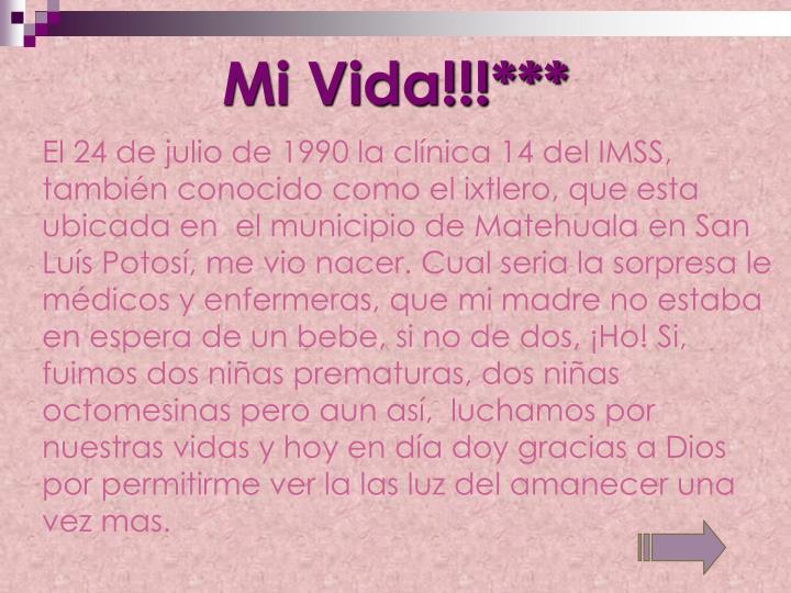Mi Vida!!!***