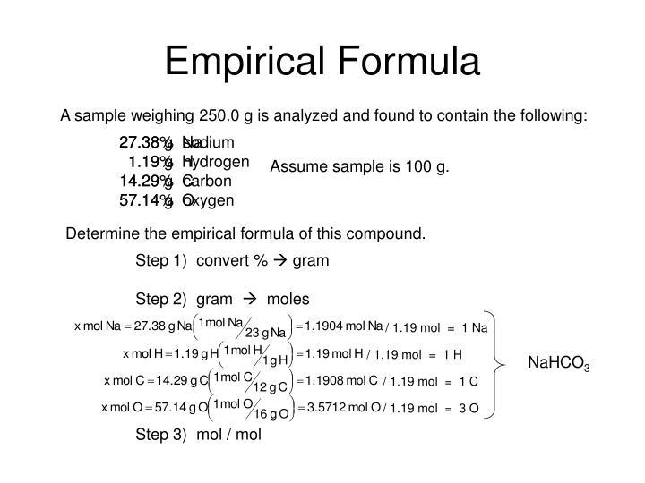 / 1.19 mol  =  1 Na