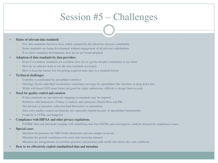 Session #5