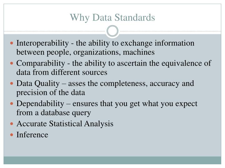 Why Data Standards