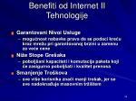 benefit i od internet ii tehnologi j e1