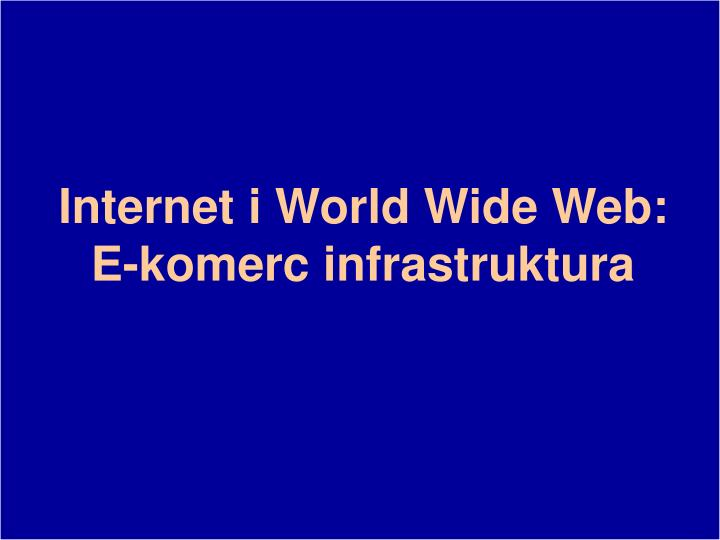 Internet i World Wide Web: