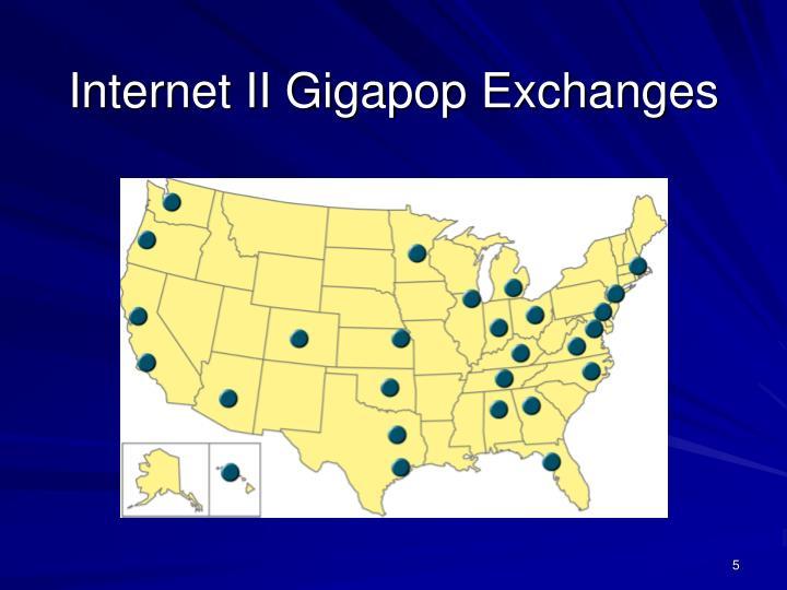 Internet II Gigapop Exchanges