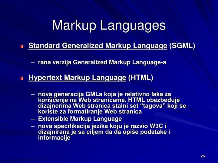Markup Languages
