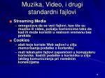 mu z i ka video i drugi standardni fajlovi