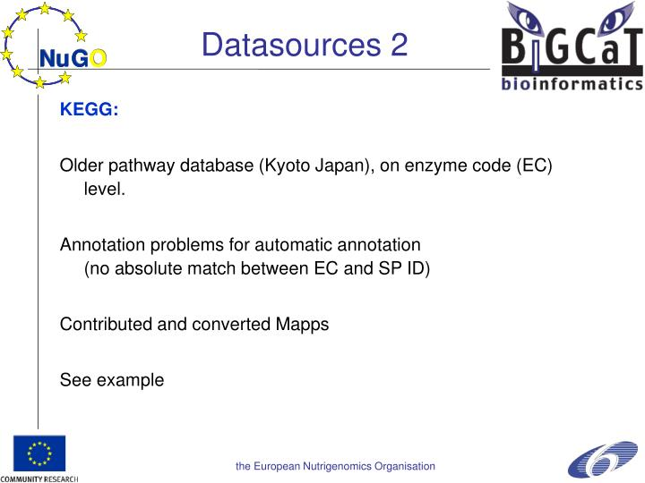 Datasources 2