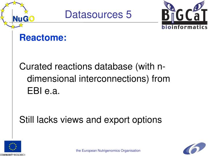 Datasources 5
