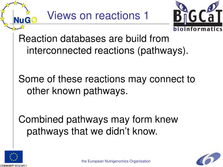 Views on reactions 1