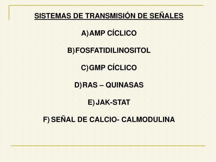 SISTEMAS DE TRANSMISIÓN DE SEÑALES
