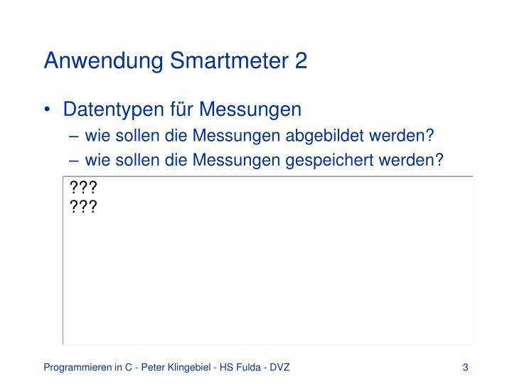 Anwendung Smartmeter 2