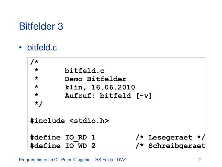Bitfelder 3
