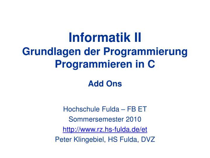 Informatik II