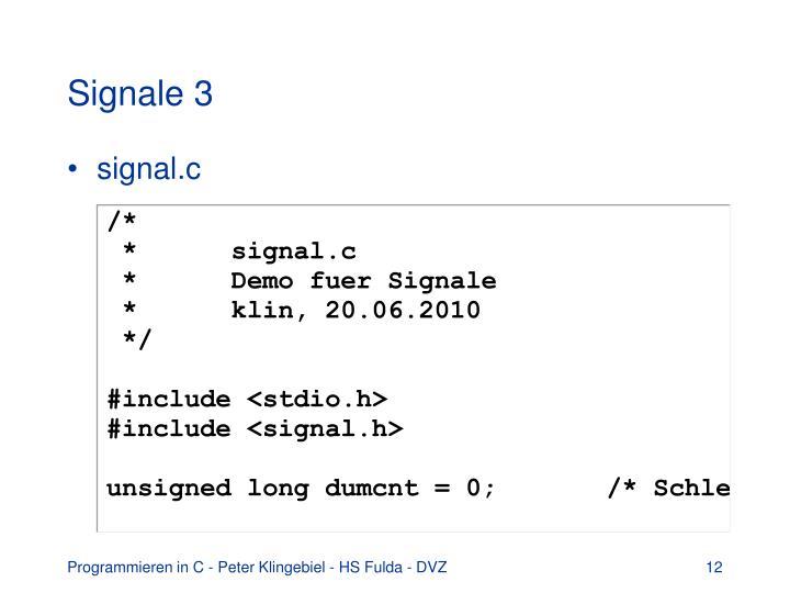 Signale 3