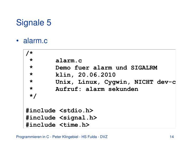Signale 5