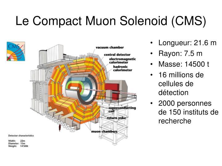 Le Compact Muon Solenoid (CMS)