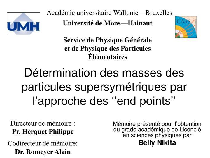 Mémoire présenté pour l'obtention du grade académique de Licencié en sciences physiques par