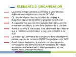 elements d organisation1
