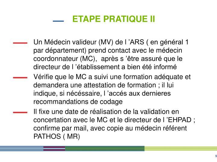 ETAPE PRATIQUE II