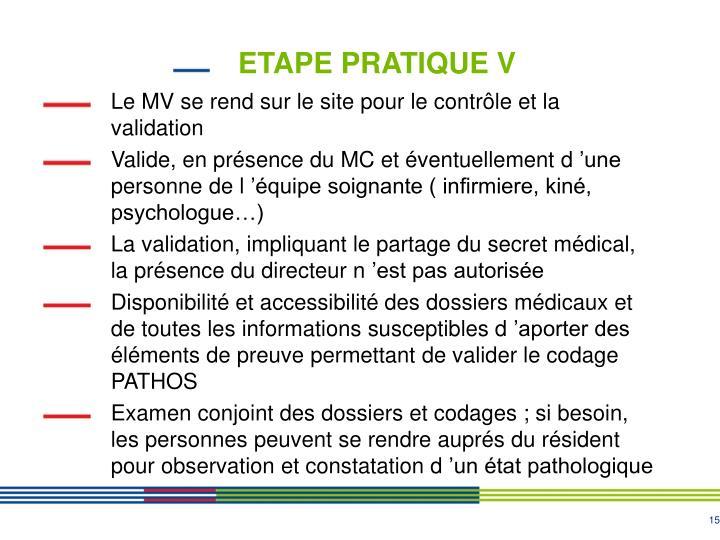 ETAPE PRATIQUE V