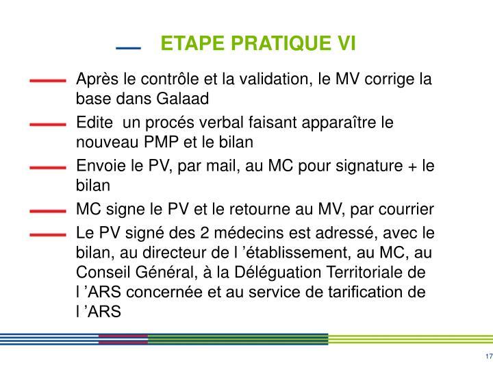 ETAPE PRATIQUE VI