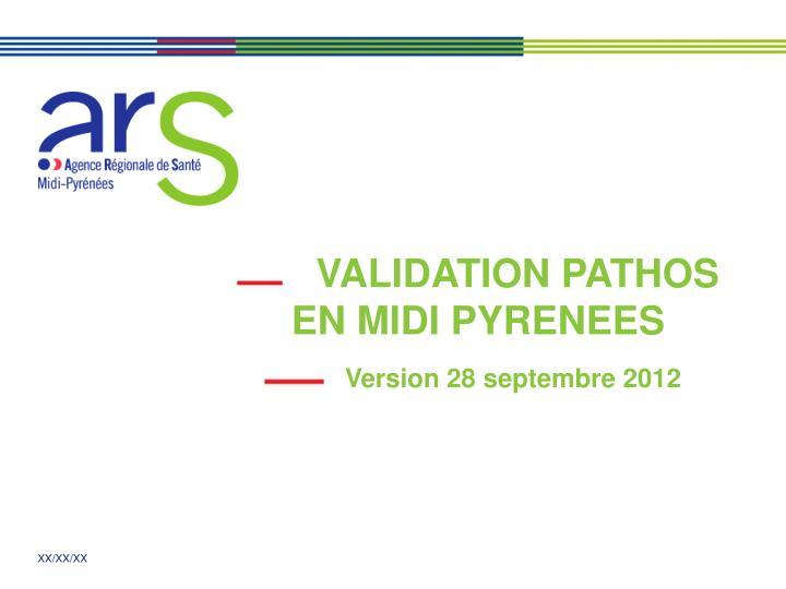 VALIDATION PATHOS