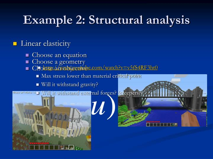 Example 2: Structural analysis