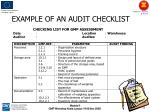 example of an audit checklist1