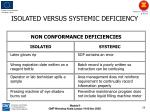 isolated versus systemic deficiency