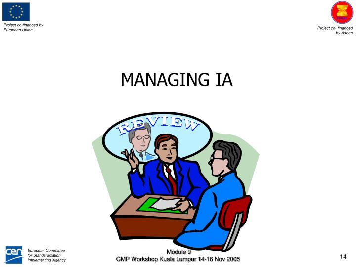 MANAGING IA