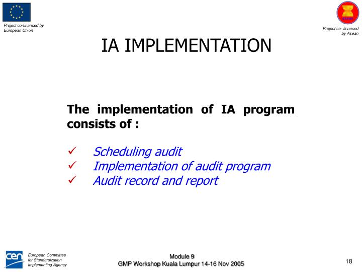 IA IMPLEMENTATION