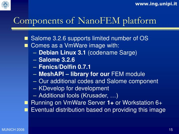 Components of NanoFEM platform