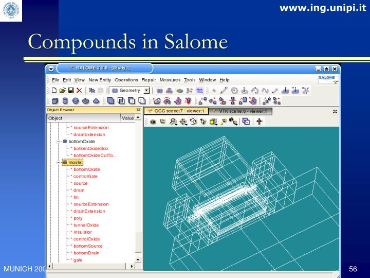 Compounds in Salome