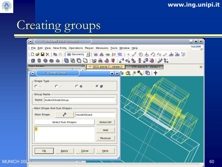 Creating groups