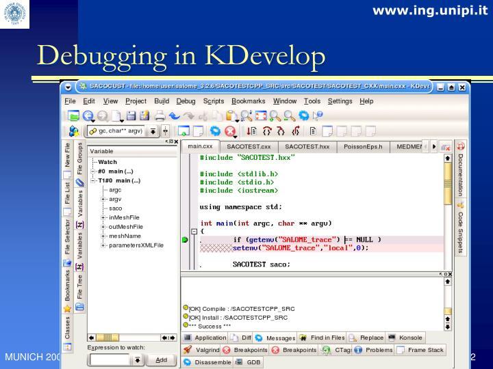 Debugging in KDevelop