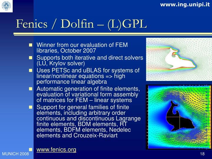 Fenics / Dolfin – (L)GPL